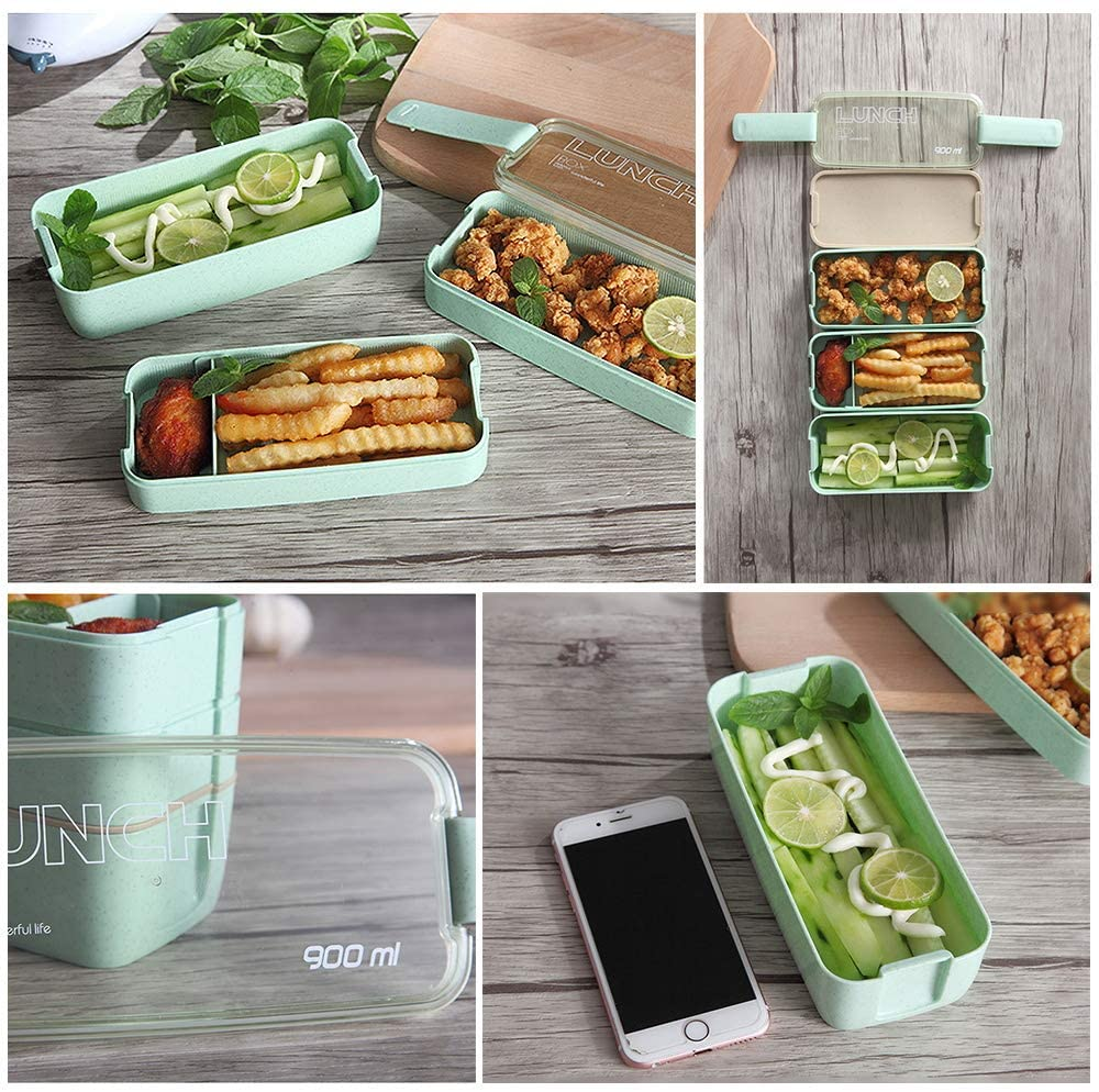 Ozazuco Wheat Straw Bento Box